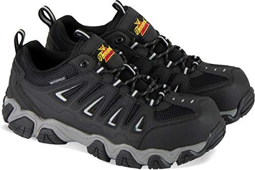 Thorogood 804-6293 Men's Crosstrex Series - Oxford Waterproof, Composite Safety Toe Hiker, Black/Grey - 12 W - Waterproof Oxfords Athletic