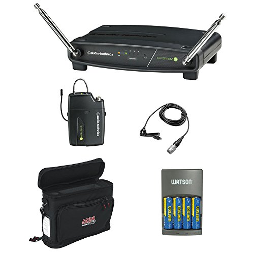 - Audio-Technica ATW-901A/L System 9 VHF Wireless Unipak System with Omnidirectional Lavalier Microphone, GM-1W Mobile Pack & 4-Hour Rapid Charger Kit