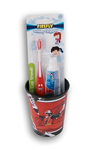 Firefly Power Rangers Tooth Brushing Kit - Toothbrush, Toothpaste, and Rinsing Cup ()