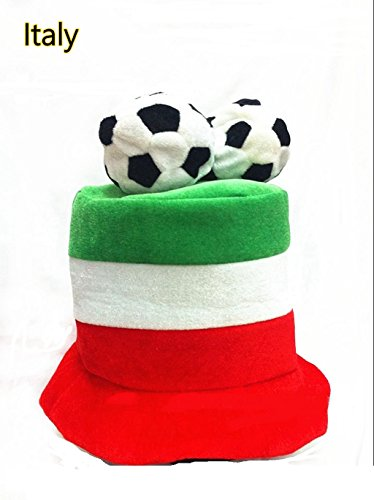 COSAUG Russia 2018 FIFA World Cup Hats Unique Designed National Flag Hats for Football Fans (Brazil National Costume Men)