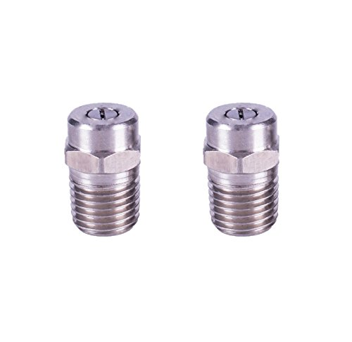 Tools Pro Pressure Washer Thread Nozzle, Stainless steel, 25 Degree, 1/4'' Male NPT, MAX 5000PSI, 2-Pack, Universal Replacement Screw Type Spray Nozzle,