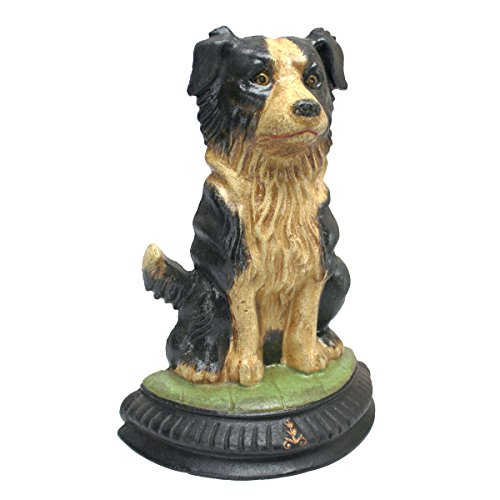 Design Toscano Border Collie Dog Die-Cast Iron Doorstop Statue ()