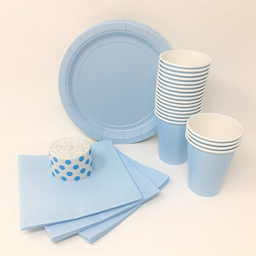 crepe paper light blue - 7