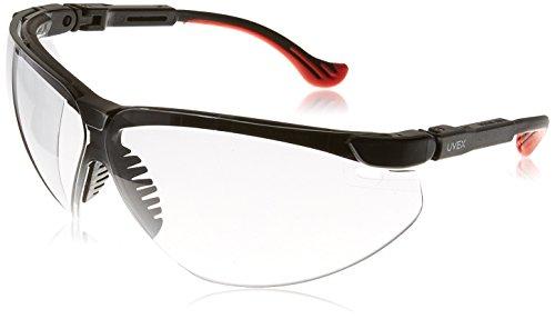 Glasses Frame Xc Safety Uvex - Uvex S3310X Genesis XC Safety Eyewear, Black Frame, 50-Percent Gray UV Extreme Anti-Fog Lens