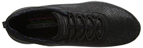 Skechers Noir Formateurs Burst Sunny 0 Black Noir Side Femme 2 8wUpr8