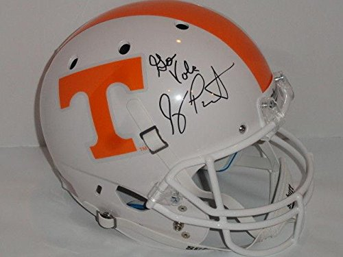 Jeremy Pruitt Signed Tennessee Volunteers Full-size Helmet Coach Exact Proof - Autographed College Helmets