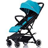 SCJ Baby Stroller with footmuff & raincover, Breathable Anti-Mosquito Baby Pushchair, Shock/Folding/Lightweight/Environmental - with Mosquito net, Cup Holder, Storage Bag