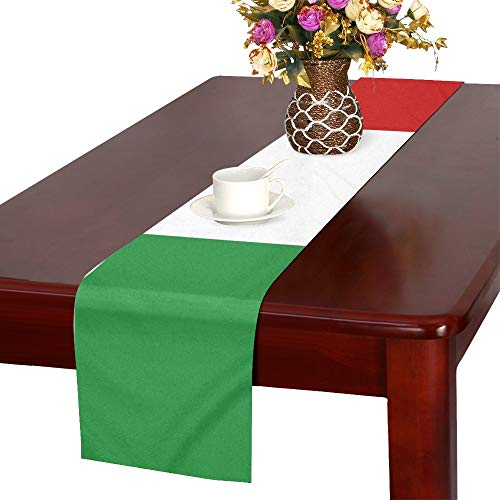 Italian Runner - WUTMVING Flag Italy Table Runner, Kitchen Dining Table Runner 16 X 72 Inch for Dinner Parties, Events, Decor