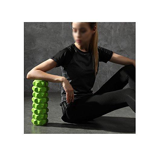 Muscle De Rouleau De Mousse De Remise En Forme Détendre Rouleau De Massage Solide Avec Grille Design Massage Bâton Outil De Massage Pour La Maison Gym Pilates Yoga (32 * 15cm),Black