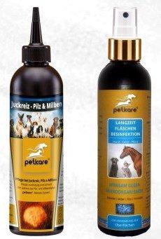 SET Juckreiz & Desinfektion für Hunde - bei Juckreiz, Milbenbefall und Pilzbefall