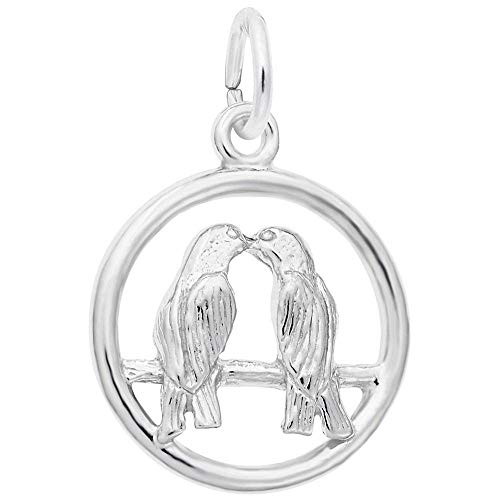 Rembrandt Charms, Love Birds, 14K White Gold ()