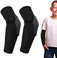 Kids/Youth 5-15 Years Sports Honeycomb Compression Knee Pad Elbow Pads Guards Protective Gear for Basketball,