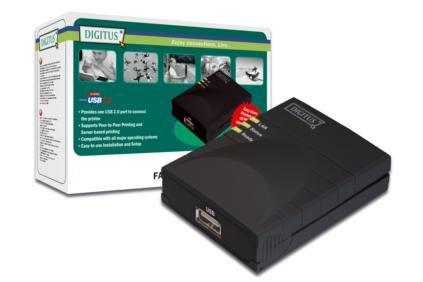 Digitus DN-13003-W Fast Ethernet print Server, Usb 2.0 by Digitus
