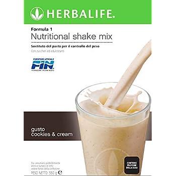 Herbalife Formula 1 Healthy Meal Nutritional Shake Mix (10 Flavor) (Cookies n