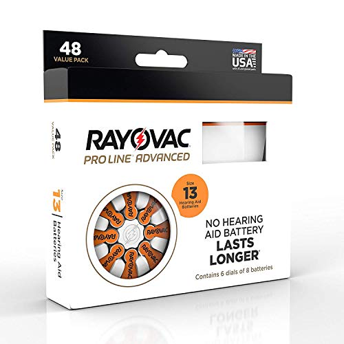 Rayovac Proline Advanced Hearing Aid Batteries Size 13 (48 Pack) ()