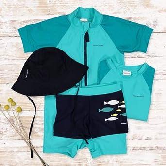 6-12MOS Pyret Color Block UV ECO Rash Guard SURF Suit Polarn O