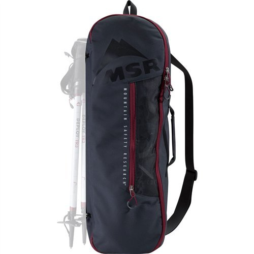 (MSR Snowshoe Bag Gray, Tote Bag for Carrying, Packing and Storing Snowshoes, Fits Snowshoes Up to 25-Inches)