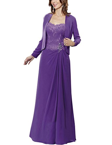 H.S.D Beads Lace Mother Of The Bride Dresses With Chiffon Jacket Formal Gowns
