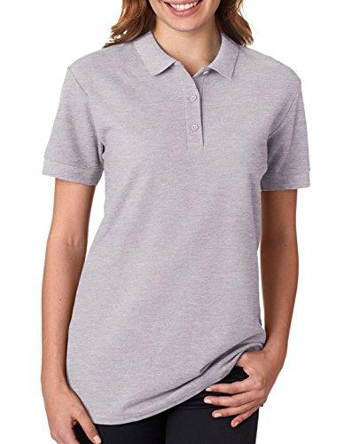 Gildan - Ladies Premium Cotton Double Pique Polo Shirt - 82800L-Sport - Sport Polo Uk