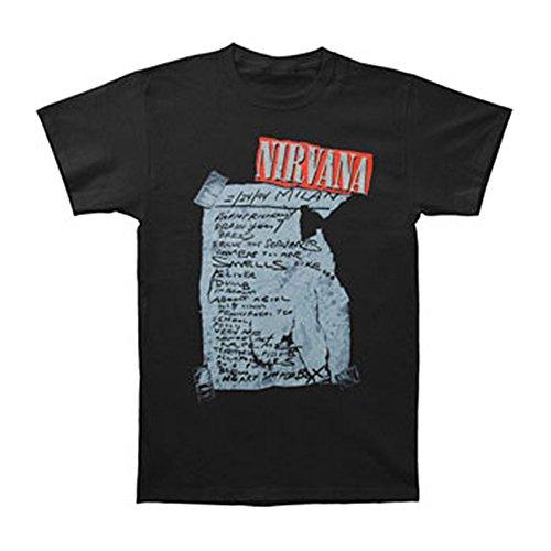 FEA FEA-NV1303-M Nirvana Milan Set List T-Shirt - Black - Medium