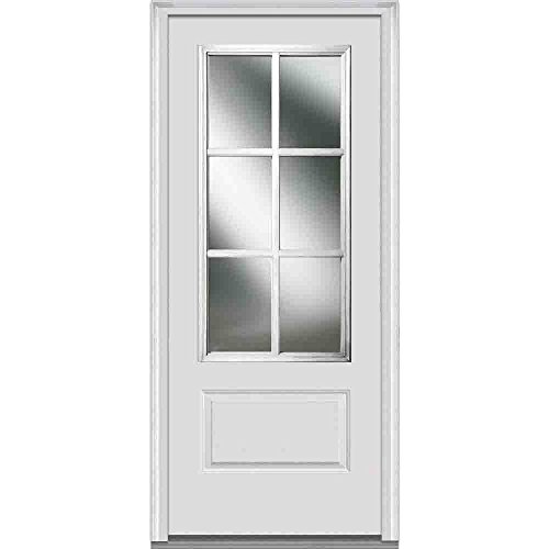 National Door Company Fiberglass Smooth, Primed, Prehung Front (Glass Entry Doors)
