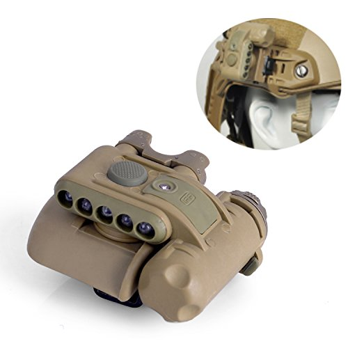 Elements Helmet (Element Airsoft EX029 SET GEN2 Three White Lights+Two Red Lights+One Invisible LED Survival Signal Helmet Light(Tan))