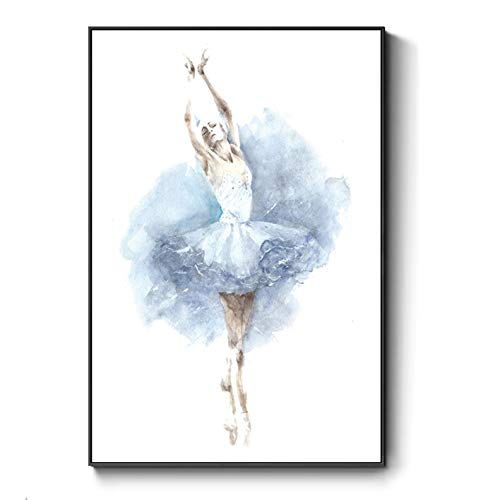 Ballet Art Deco Modern Framed Wall Art Decor Canvas Print Women Dancing Painting Picture Contemporary Artwork Wall Decoration Included Framed (12X16 Inch, ()