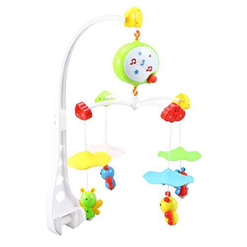 Toyvian Cuna musical para bebés Rotación de 360 grados Juguete móvil Cama para niños pequeños Campana con...