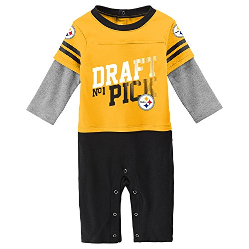 Outerstuff NFL Pittsburgh Steelers Newborn & Infant Draft Pick Long Sleeve Coverall Gold, 0-3 Months]()