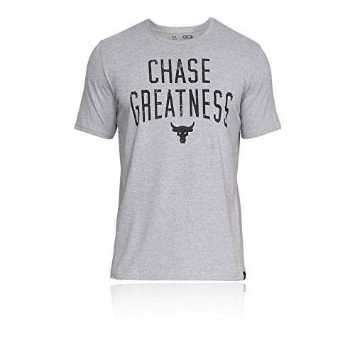 Chase Rocks - Under Armour Project Rock Chase Greatness Training T-Shirt - Medium - Grey