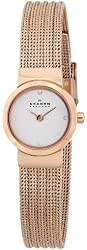 Skagen Women's SKW2132 Mette Stainless Steel Rose Gold-Tone Watch with Crystal Markers