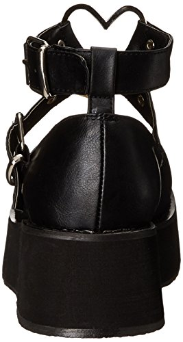 Demonia Womens SPR02/BVL Fashion Sneaker Black Vegan Leather rf2tk9zpgI
