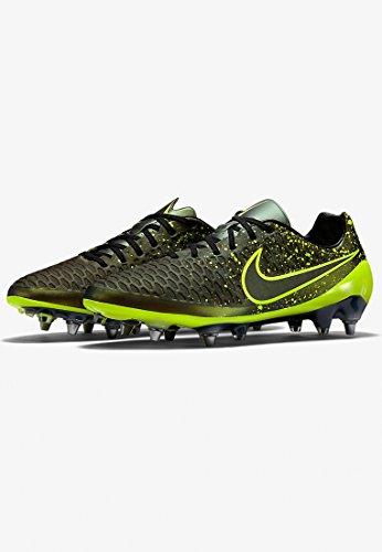 Nike Magista Opus Sg-Pro, Botas de Fútbol para Hombre Dorado / Verde / Negro (Dark Citron / Volt-Black-Black)