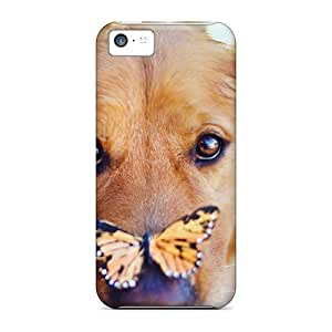 Sanp On For Iphone 5/5s ( Dog Face With Butterfly) High-definition mobile phone New Snap-on case cover cover miao's Customization case