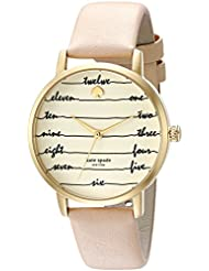 kate spade new york Womens Metro Quartz Stainless Steel and Leather Casual Watch, Color Brown (Model: KSW1059)