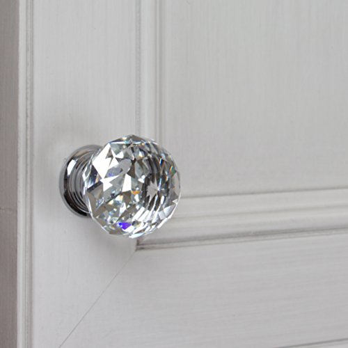 GlideRite Hardware 9003-CR-30-50 K9 Crystal with Polished Chrome Base Cabinet Knobs, 50 Pack, Small, Clear by GlideRite Hardware (Image #2)