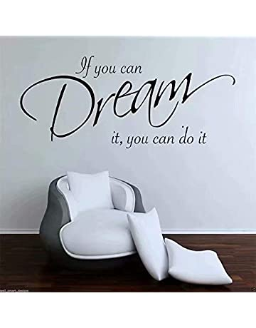 568cc13e14fa Stonges Inspirational Quotes Wall Stickers Art Decor for Girls Bedroom