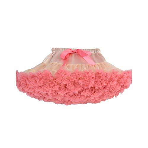 (New Baby Girls Tutu Skirt Ballerina Pettiskirt Fluffy Children Ballet Skirts for Party Dance Princess Girl Tulle Clothes,Peach and)