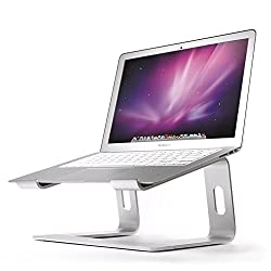 Soundance Ergonomic Laptop Stand Holder for Mac MacBook Pro/Air and All Apple Notebooks, Compact Portable Laptop Riser for 10 – 17 inch Notebook PC Desktop/Desk Computer, Aluminum Silver LS1