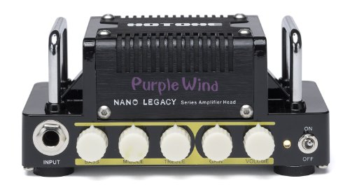 Hotone Nano Legacy Purple Wind 5-Watt Compact Guitar Amp Head with 3-Band EQ ()