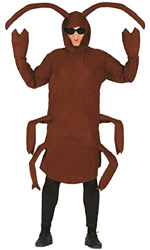 Mens Giant Cockroach Brown Bug Insect Stag Do Animal Fancy Dress Costume Outfit