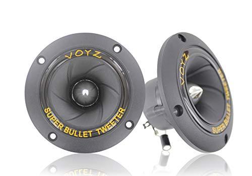 "VOYZ 400 Watt 3.5"" Piezo Super Horn Tweeters Aluminum Diaphragm 4-8 ohms 1 Pair (2pcs) (PET-1919)"