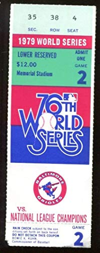1979 World Series Game 2 Ticket Orioles v Pirates Eddie Murray HR Ex/MT 43568