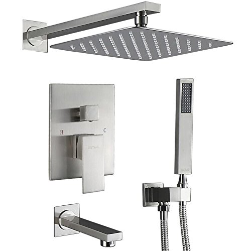 Esnbia Shower System, Shower Faucet Set with Tub Spout and 10