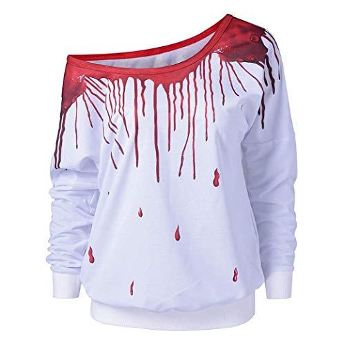 M-5XL Women Cold Shoulder Hoodies Tops Rainbow Print Pullover Sweatshirt T-Shirt