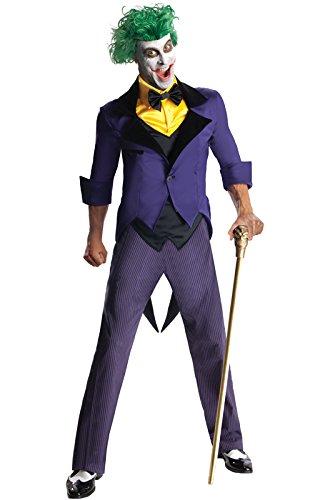 Rubies Mens Dc Super Villains Adult Joker, Yellow/Purple, Large