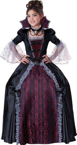 [InCharacter Costumes Girl's Vampiress Of Versailles Costume, Black/Red, 16] (Red Vampiress Adult Costumes)