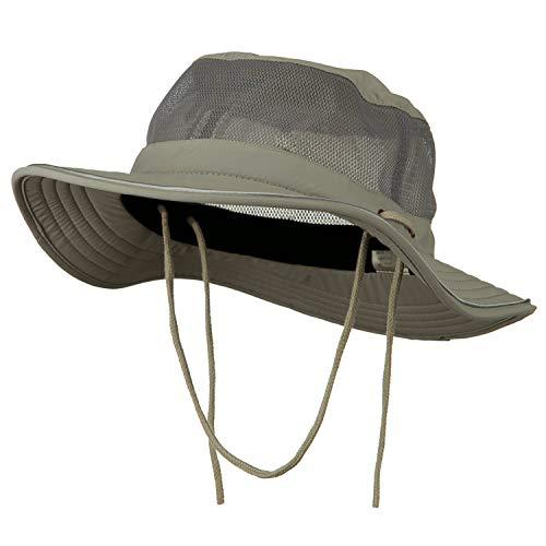 e4Hats.com Big Size Talson UV Mesh Bucket Hat - Grey 2XL-3XL