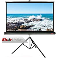 """Elcor Tripod Type Projector Screens 4ft.x6ft-84"""" Diagonal In 4:03 Aspect Ratio, Ultra HD, Active 3D, and HDR Ready"""