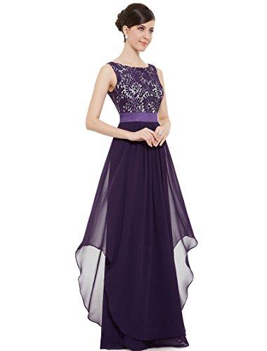 Ever Pretty Womens Formal Lace Chiffon Long Bridesmaids Dress 10 US Purple